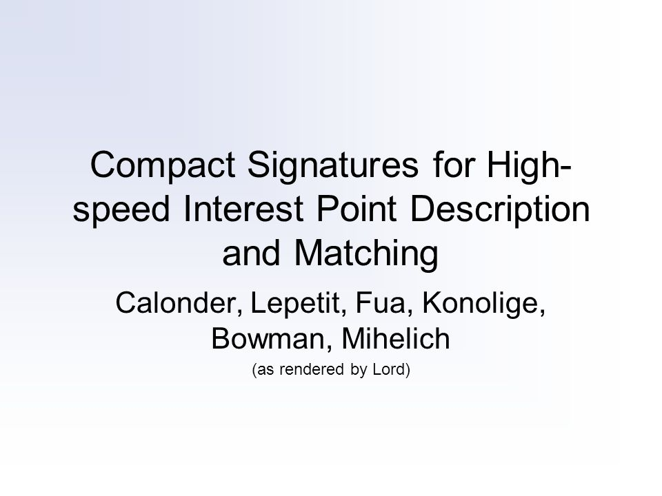 Signatures t does not have to be terribly large to max out your matching performance: