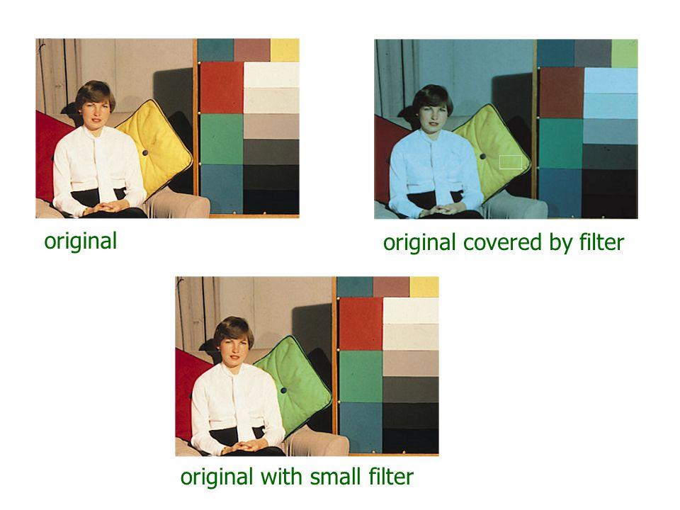 original original covered by filter original with small filter