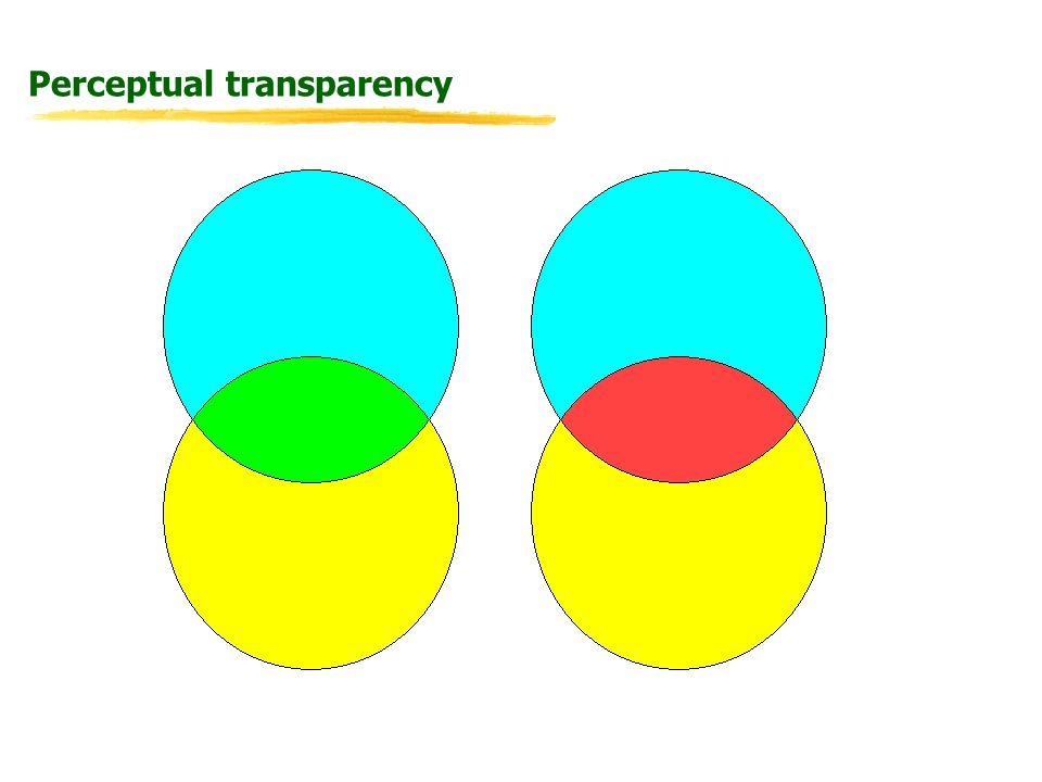 Research Questions What mechanisms could drive perceptual transparency.