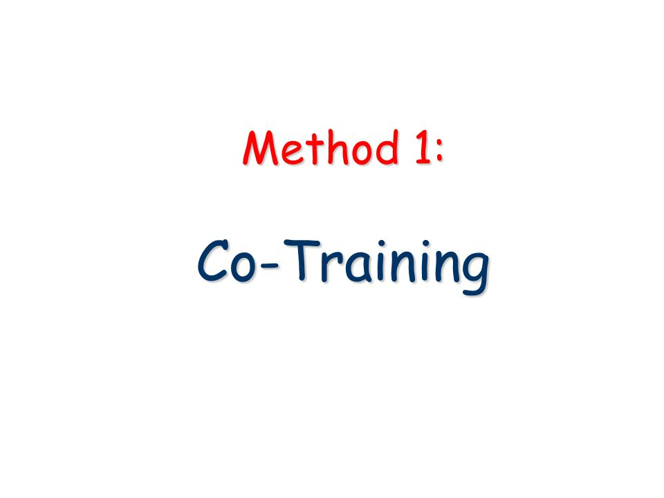 Method 1: Co-Training