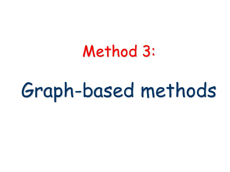 Method 3: Graph-based methods