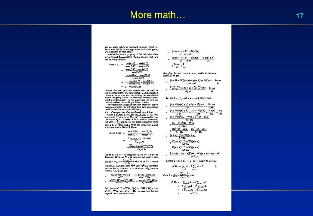 17 More math…