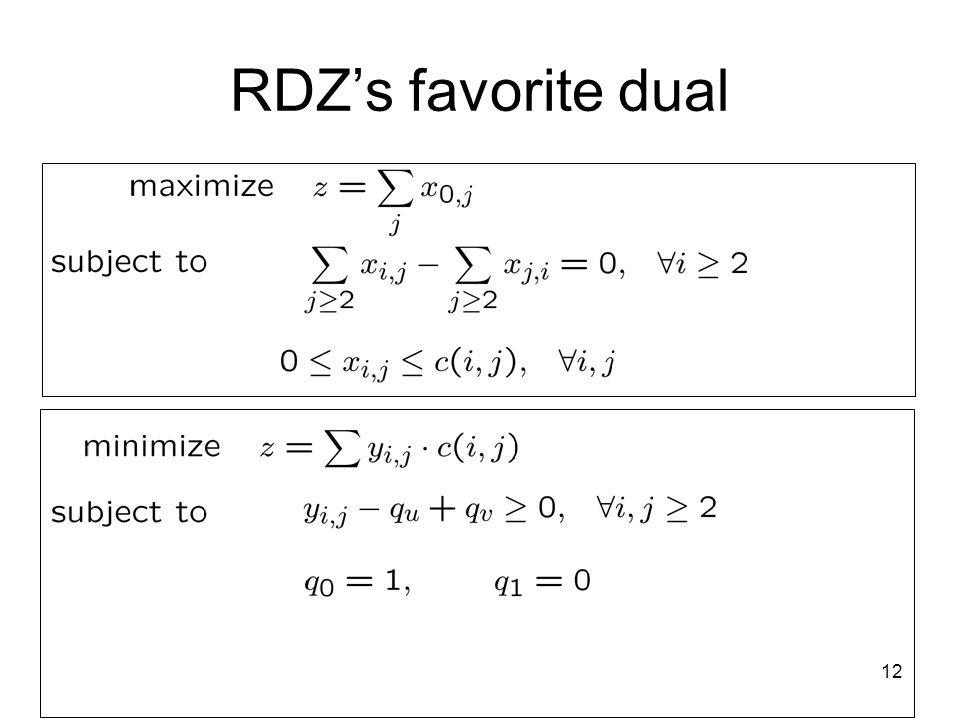 12 RDZs favorite dual