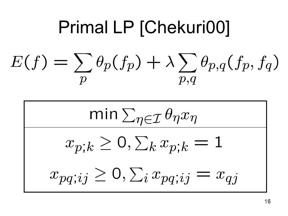 16 Primal LP [Chekuri00]
