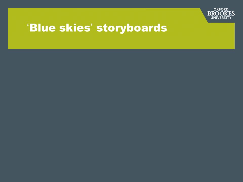Blue skies storyboards