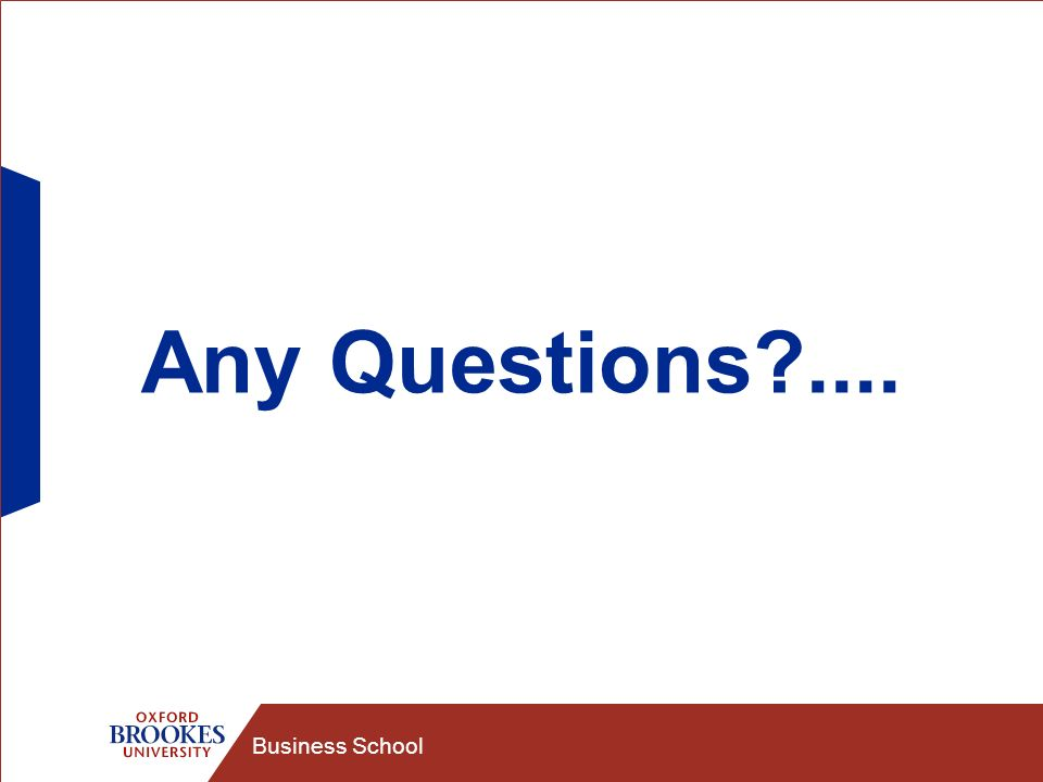 Business School Any Questions ....
