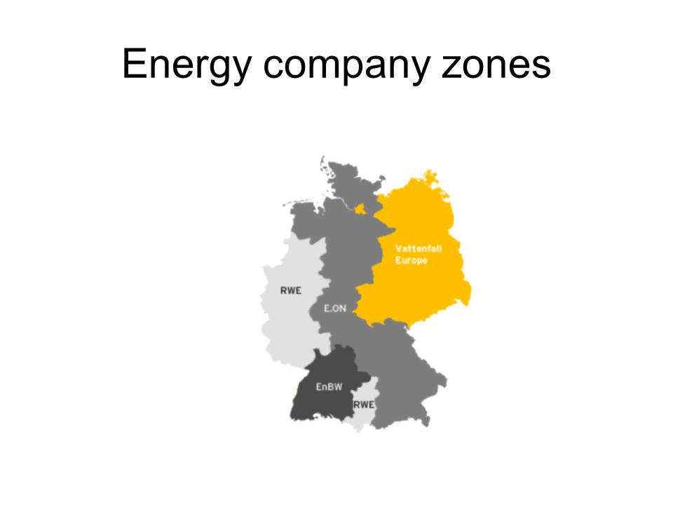 Energy company zones