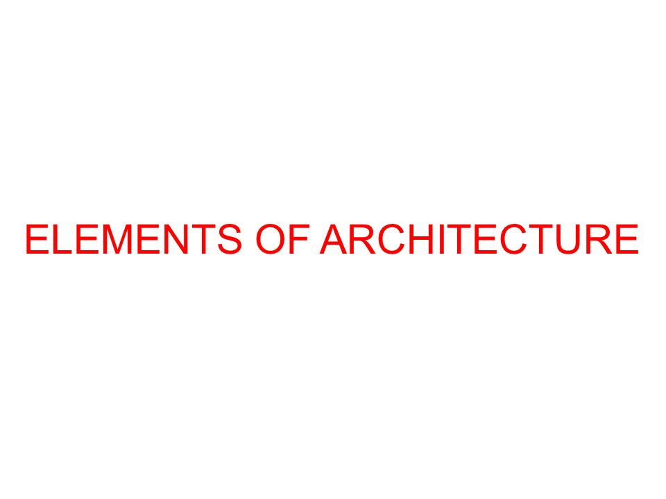 OBJECTIVES To understand the nature of architecture To understand how the nature of architecture has affected urban form To understand how a new urban architecture is evolving