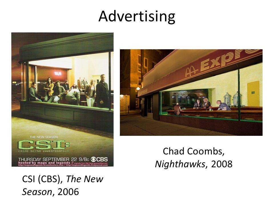 CSI (CBS), The New Season, 2006 Chad Coombs, Nighthawks, 2008 Advertising