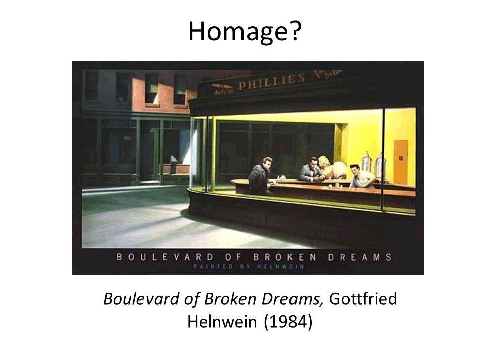 Homage? Boulevard of Broken Dreams, Gottfried Helnwein (1984)