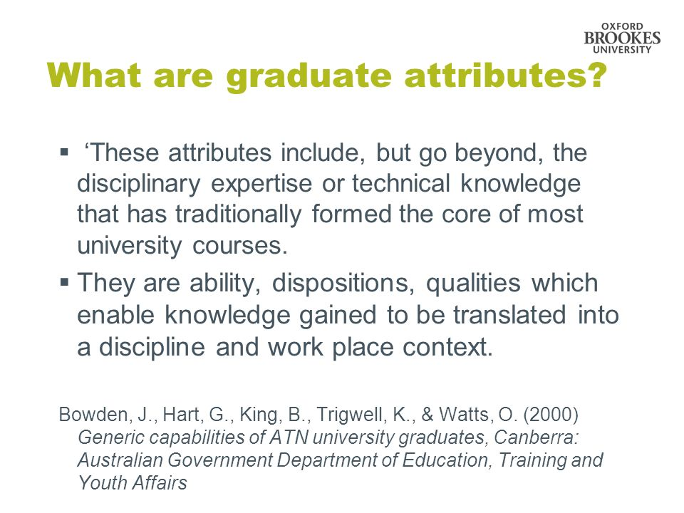 What are graduate attributes.