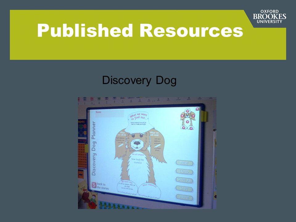 Published Resources Discovery Dog
