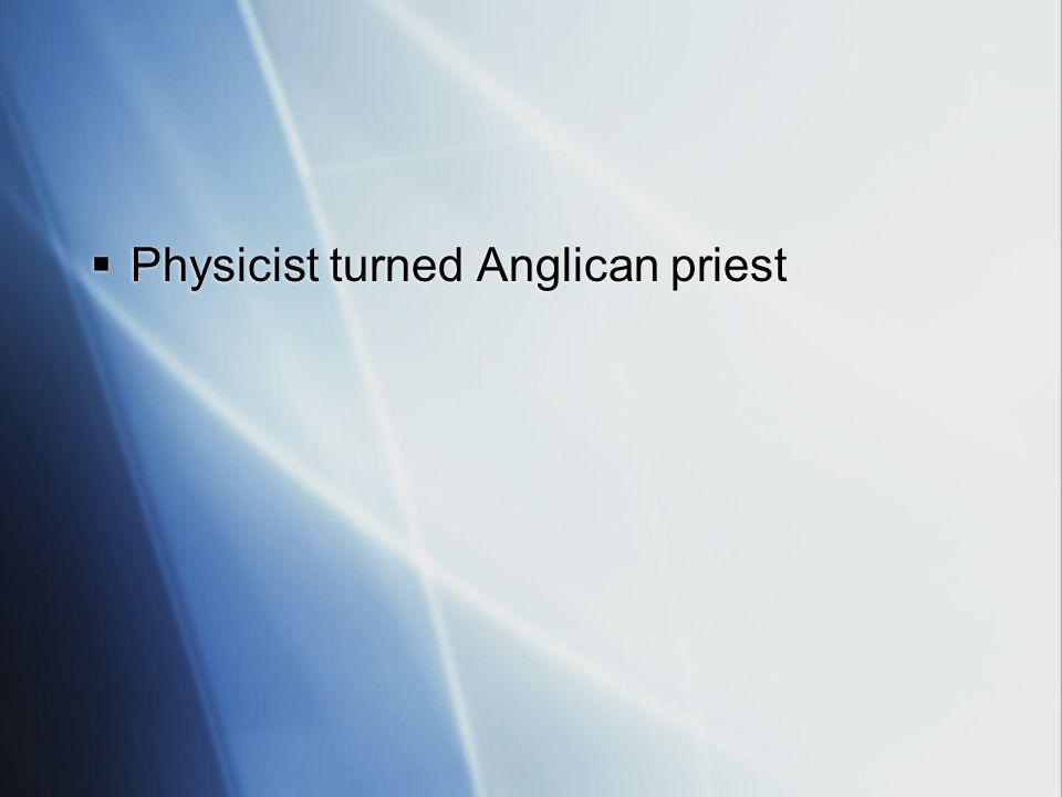 Physicist turned Anglican priest