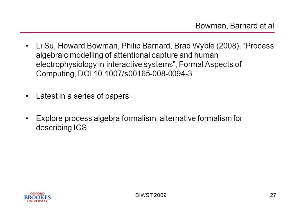 BIWST 200927 Bowman, Barnard et al Li Su, Howard Bowman, Philip Barnard, Brad Wyble (2008).
