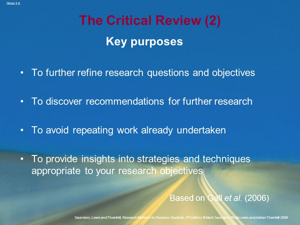 Slide 3.5 Saunders, Lewis and Thornhill, Research Methods for Business Students, 5 th Edition, © Mark Saunders, Philip Lewis and Adrian Thornhill 2009