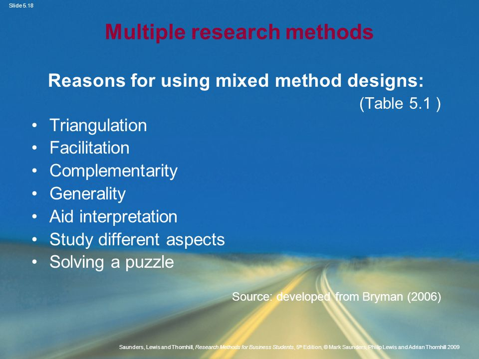 Slide 5.18 Saunders, Lewis and Thornhill, Research Methods for Business Students, 5 th Edition, © Mark Saunders, Philip Lewis and Adrian Thornhill 200