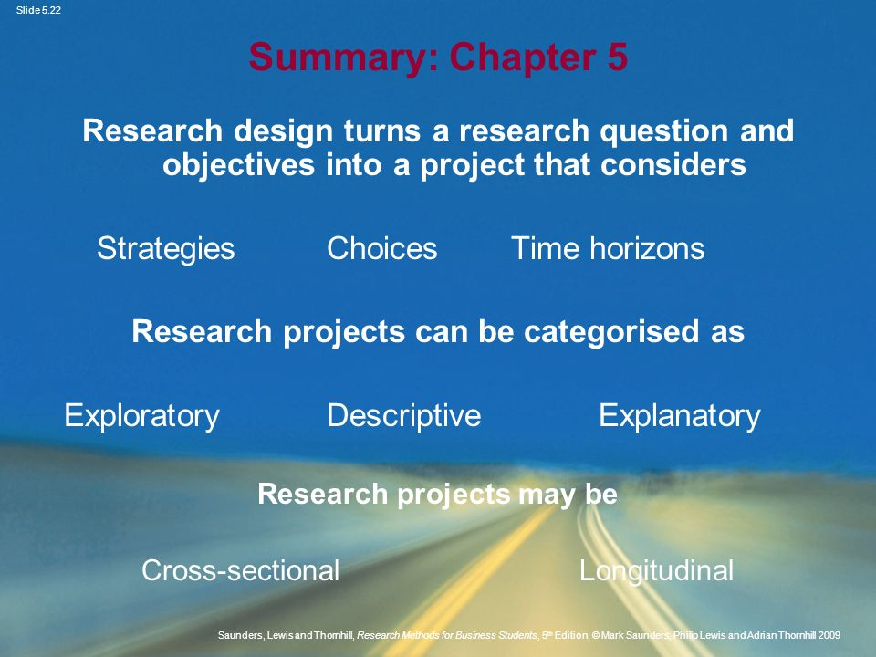 Slide 5.22 Saunders, Lewis and Thornhill, Research Methods for Business Students, 5 th Edition, © Mark Saunders, Philip Lewis and Adrian Thornhill 200