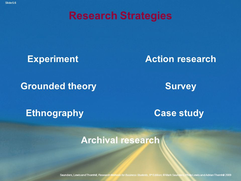 Slide 5.6 Saunders, Lewis and Thornhill, Research Methods for Business Students, 5 th Edition, © Mark Saunders, Philip Lewis and Adrian Thornhill 2009