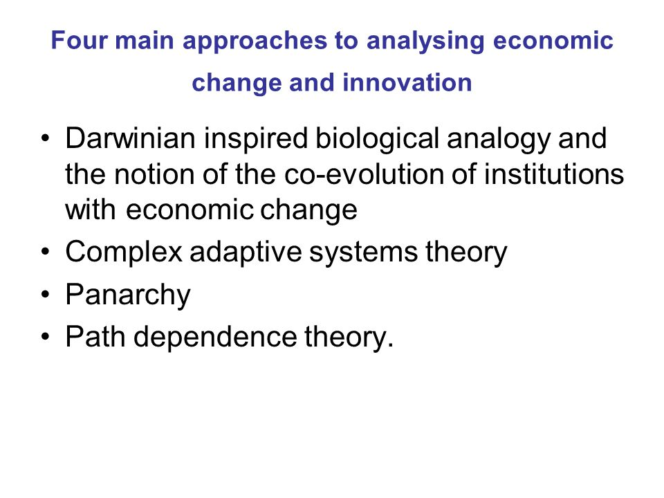 Definition of path dependence a probabilistic and contingent process: at each moment in time the suite of possible future evolutionary trajectories (paths) of a technology, firm or industry is conditioned by (contingent on) both the past and the current states of the system in question.