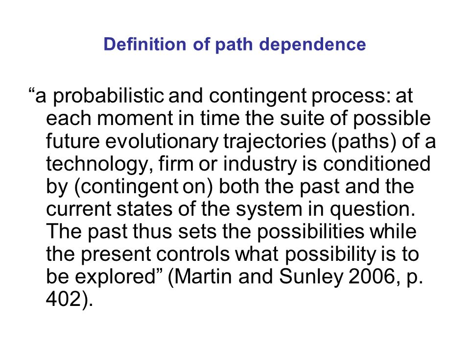 Technological paradigms and radical innovation First major problem confronting the introduction of radical innovations and the creation of new economic pathways is how to overcome the prevailing techno-economic paradigm and its established network externalities, technologies, products and services (Markard and Truffer 2006).