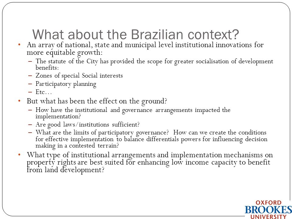 What about the Brazilian context.