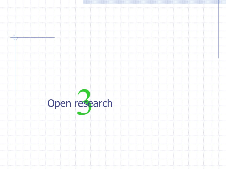 3 Open research