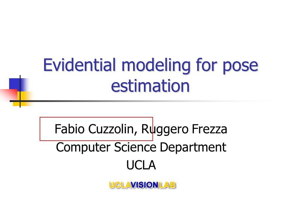 Evidential modeling for pose estimation Fabio Cuzzolin, Ruggero Frezza Computer Science Department UCLA