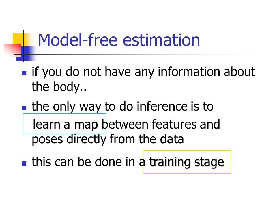 Conclusions pose estimation of unknown objects is a difficult task a bottom-up model has to be built from the data in a training session the DS framework allows to formalize the idea of feature-pose maps in a natural way through the notion of compatible frames Dempsters combination provides a method to integrate features to increase robustness