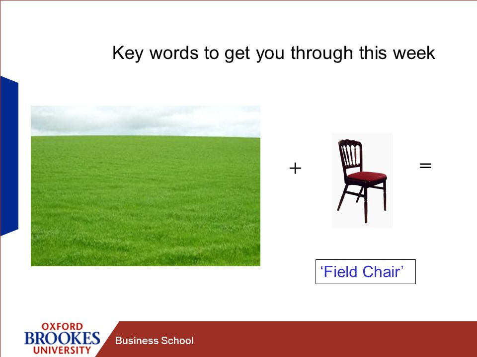 Business School Key words to get you through this week Programme Module PIP (Personal Information Portal) Makes up your timetable (Stage I and Stage II)