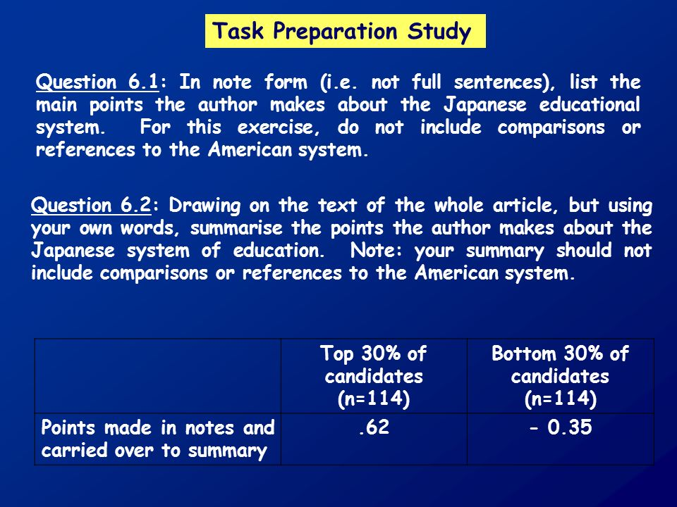 Task Preparation Study Question 6.1: In note form (i.e.