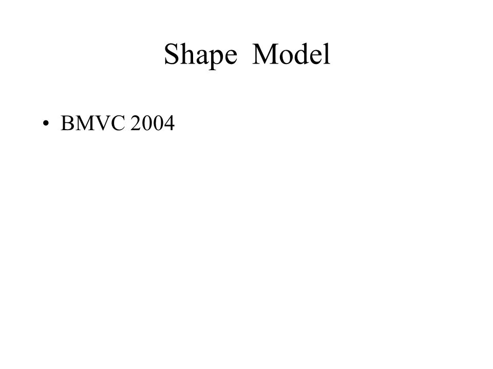 Shape Model BMVC 2004