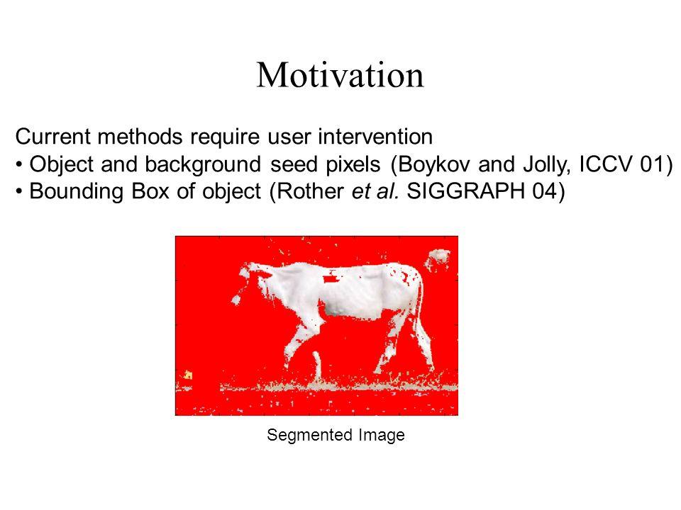 Dynamic Image Segmentation Image Flows in n-edges Segmentation Obtained