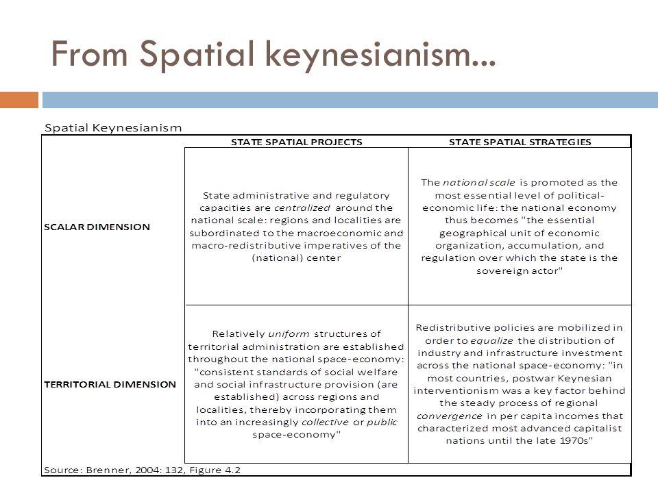 From Spatial keynesianism...