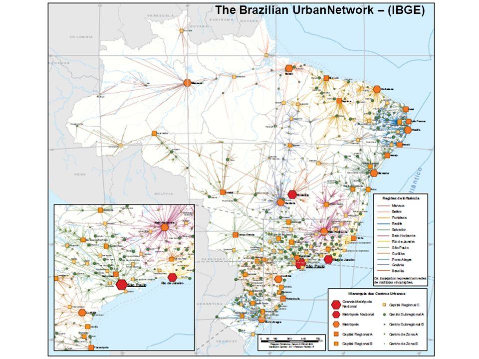 The Brazilian UrbanNetwork – (IBGE)