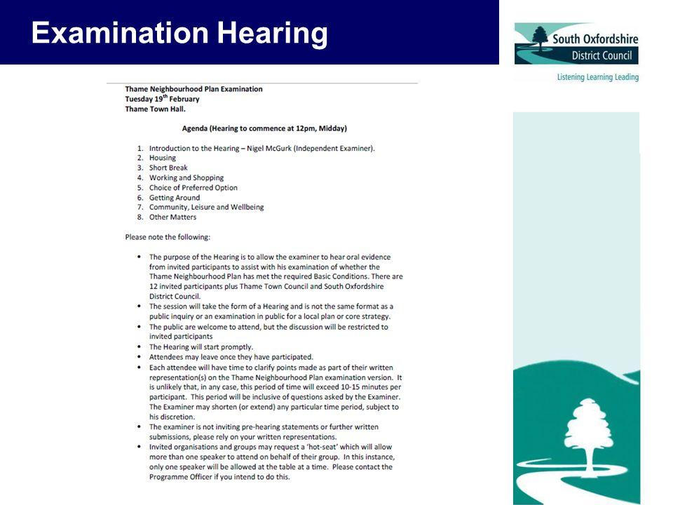 Examination Hearing