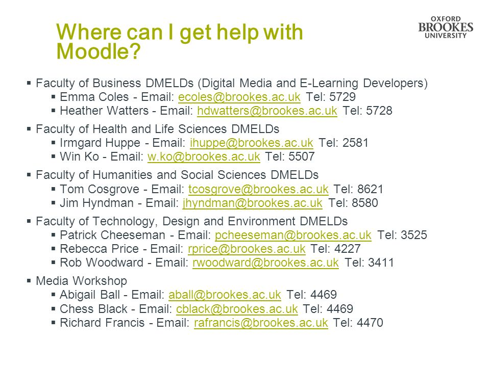 Where can I get help with Moodle.