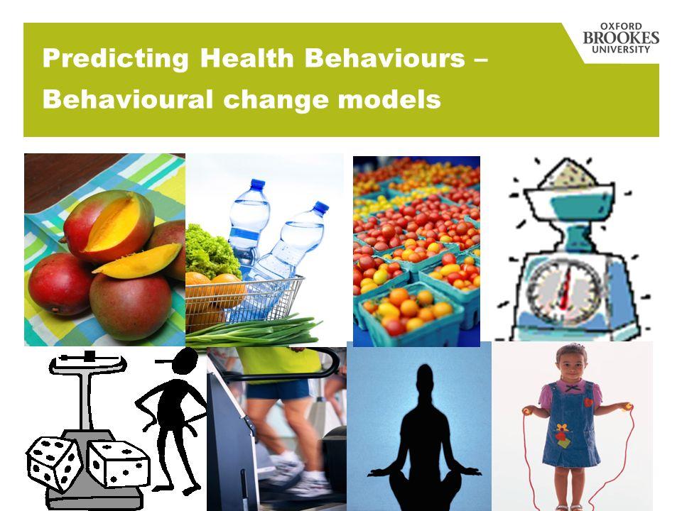 Predicting Health Behaviours – Behavioural change models