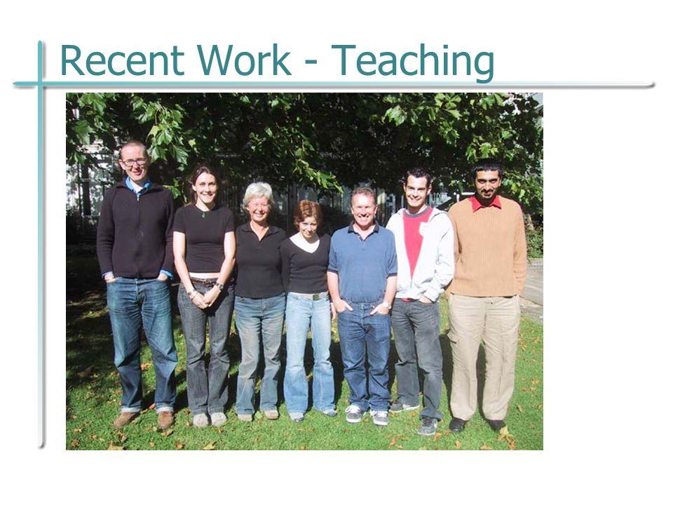 Recent Work - Teaching