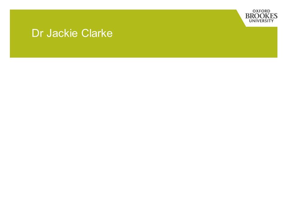 Dr Jackie Clarke