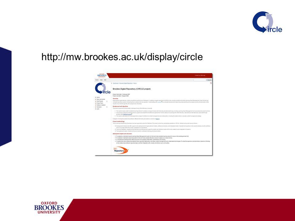 http://mw.brookes.ac.uk/display/circle