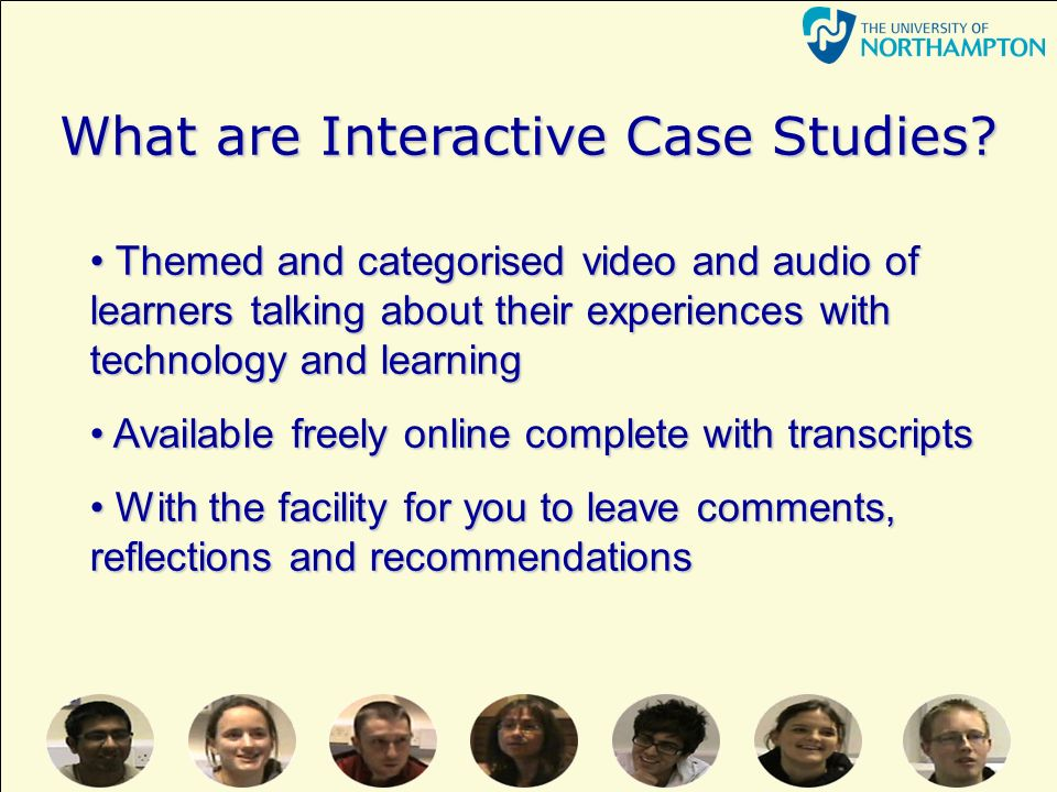 What are Interactive Case Studies.