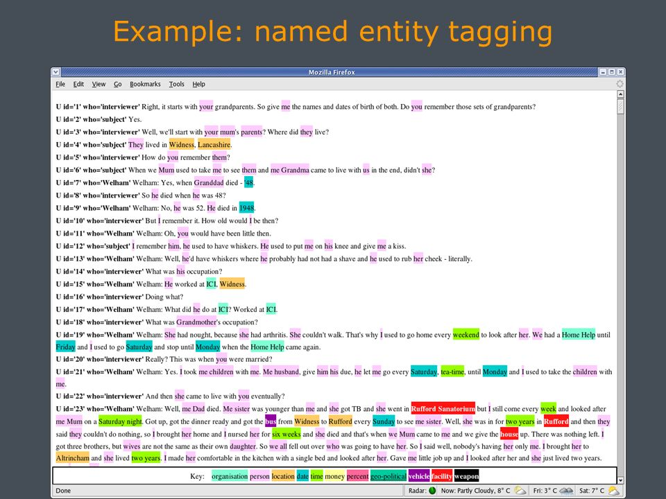 Example: named entity tagging PICTURE HERE