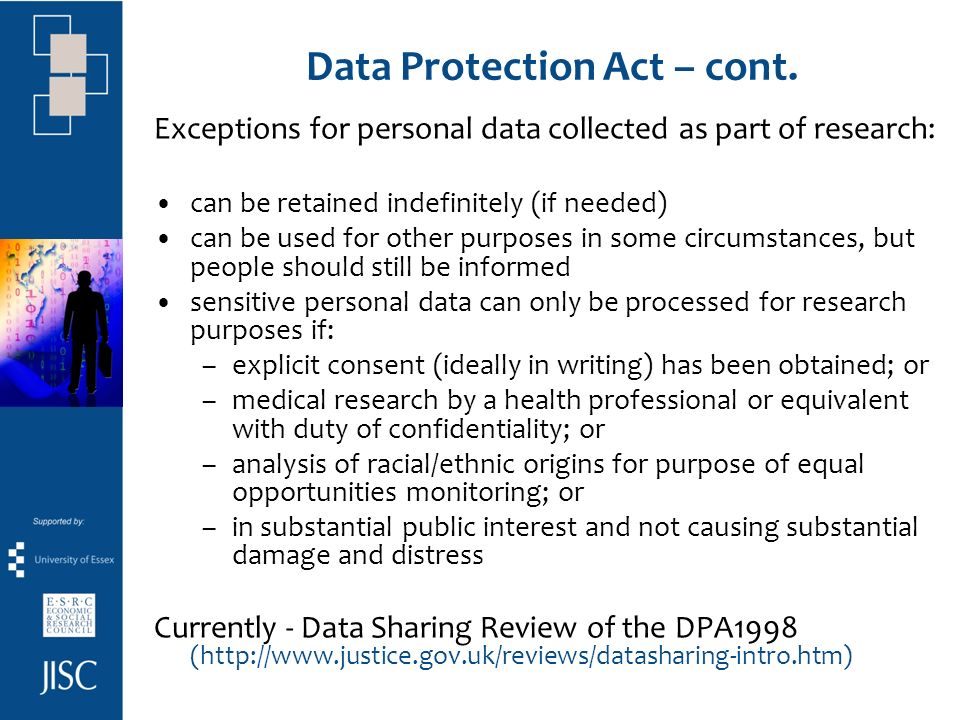 Data Protection Act – cont.