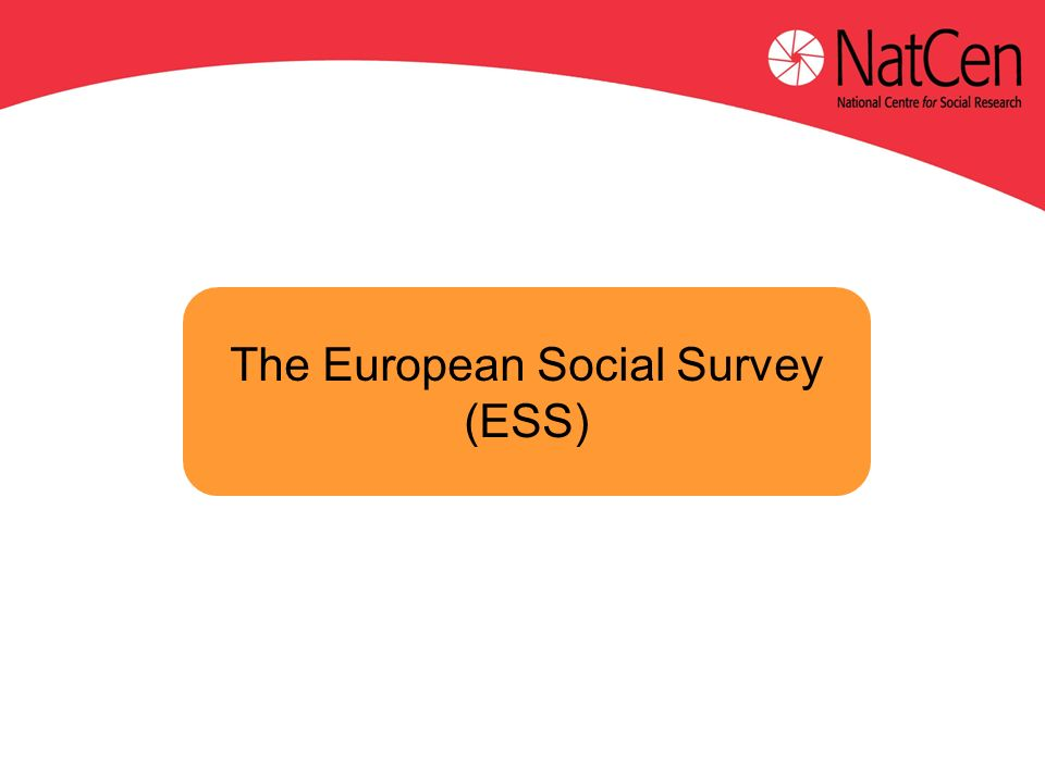 The European Social Survey (ESS)