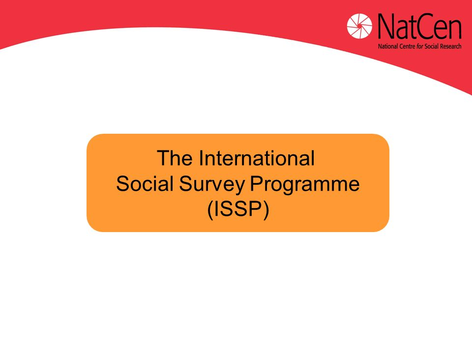 The International Social Survey Programme (ISSP)