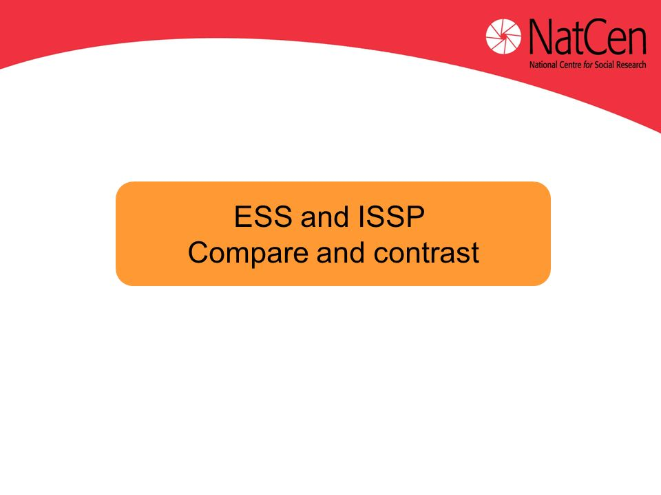 ESS and ISSP Compare and contrast