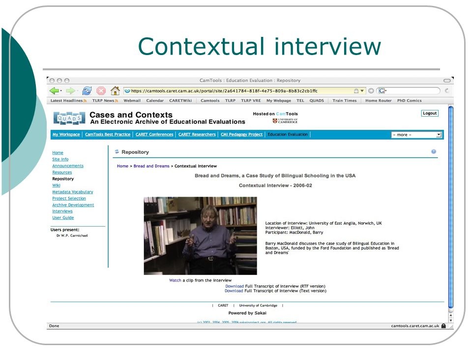 Contextual interview
