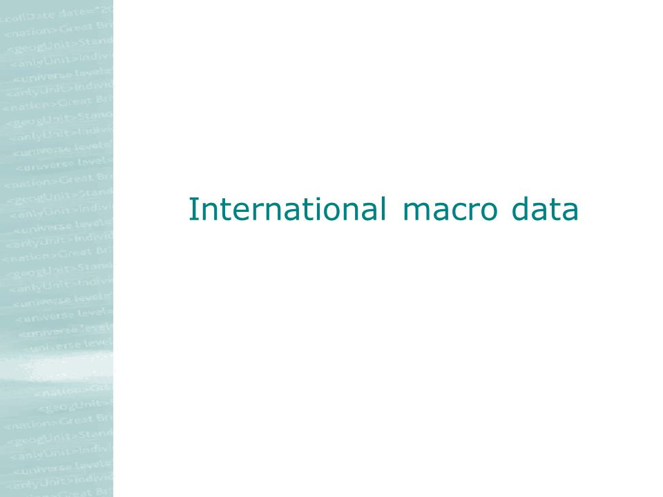 International macro data