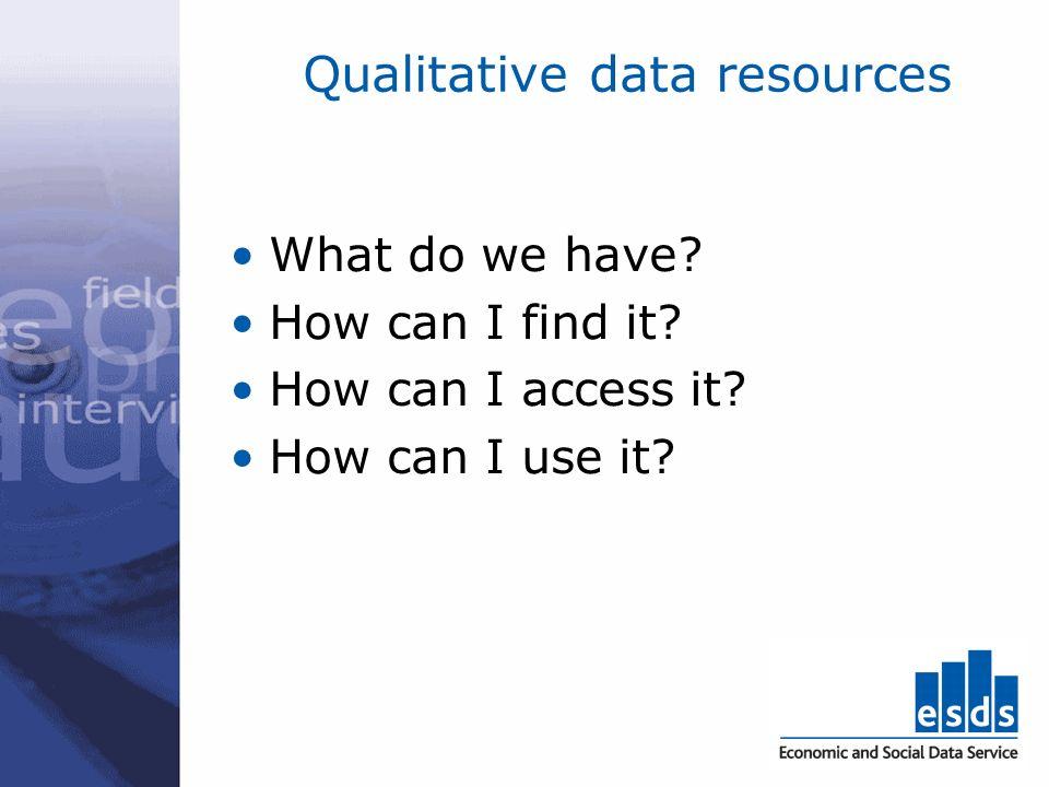 Qualitative data criteria relative importance or impact of the study eg.