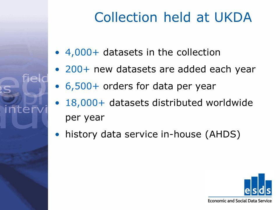 UKDA Catalogue screen shot